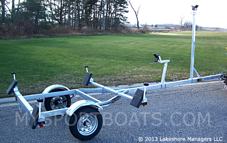Dolphin Wave Galvanized Sail Boat Trailer