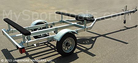 Dolphin Bravo Sail Boat Trailer shown with optional spare tire