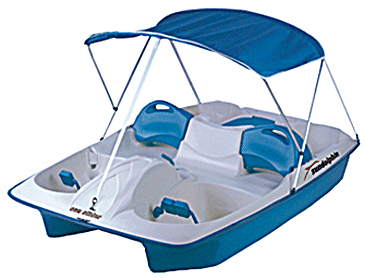 Sun Dolphin Sun Slider 5 Pedal Boat With Canopy