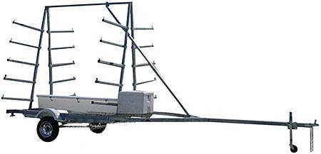 Magneta UKCT10 - 10 Kayak Trailer / 10 Canoe Trailer