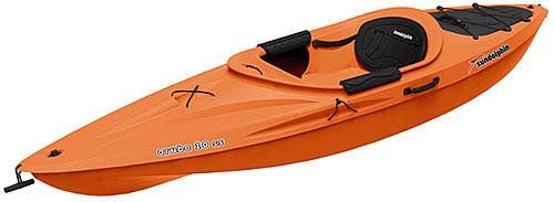 Sun Dolphin Aruba 10 SS Kayak Tangerine