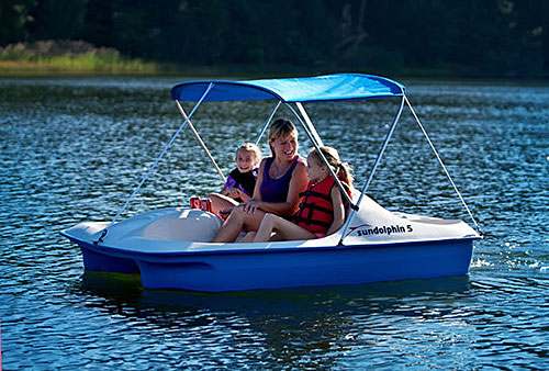 Sun Dolphin 5 Pedal Boat With Canopy