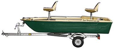 Sun dolphin pro 120 boat trailer for Sun dolphin pro 10 2 fishing boat