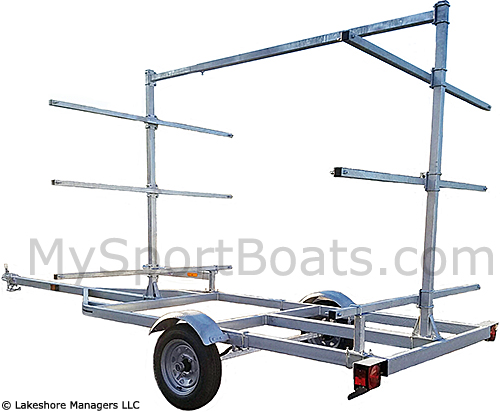 how to build a canoe rack for a trailer