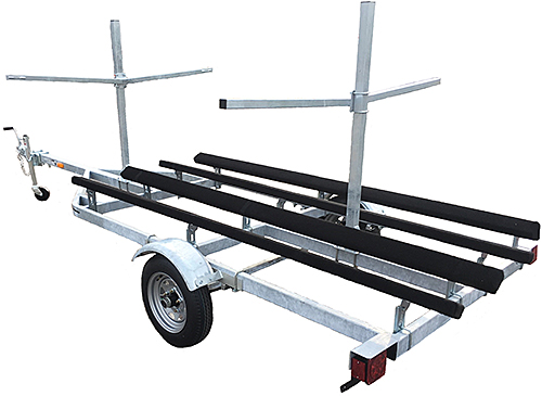 Genesis Fishing Kayak Trailer With Optional Uprights & Carry Arms