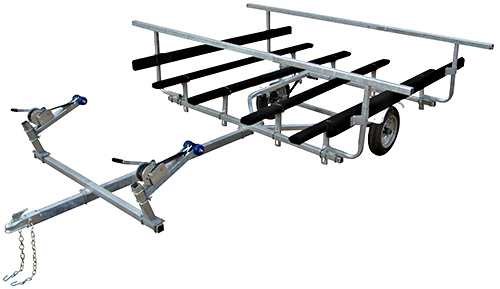 Magneta EFK2 Shown With Optional Load Bars, Side Guides, & Double Winchs